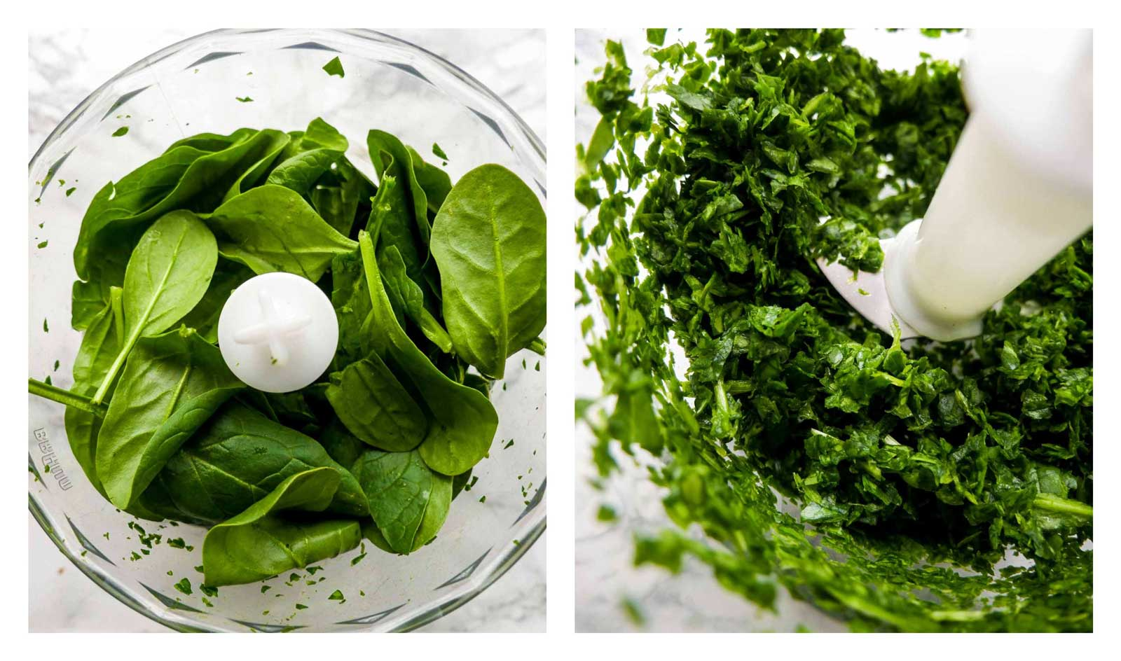 finthakket spinat til snurrer