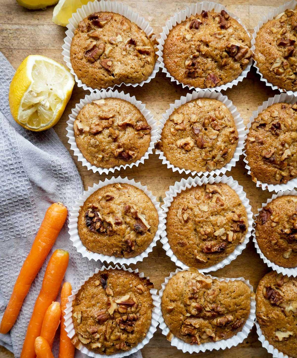 opskrift på gulerods muffins uden æg