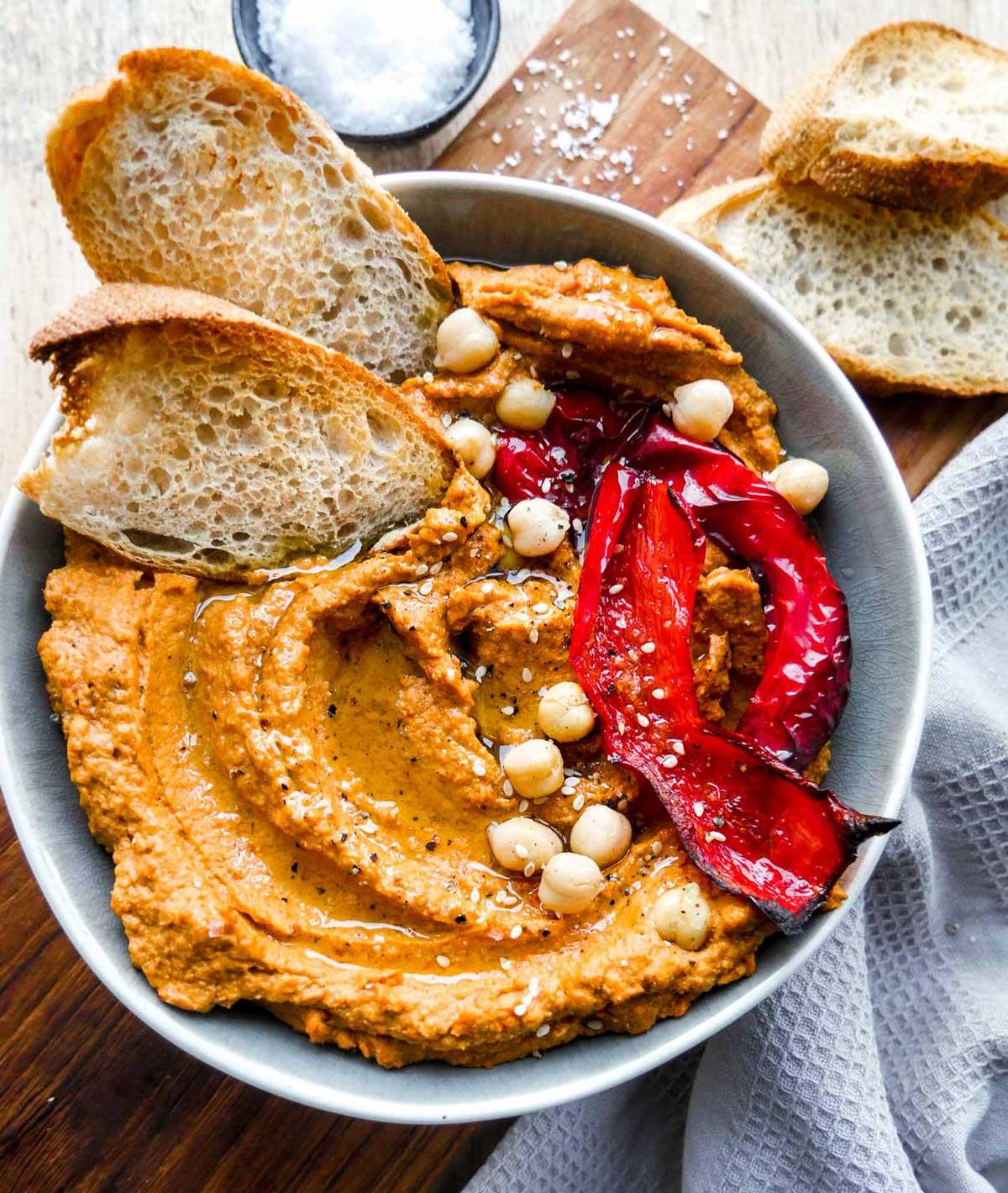 rød hummus nem hjemmelavet opskrift