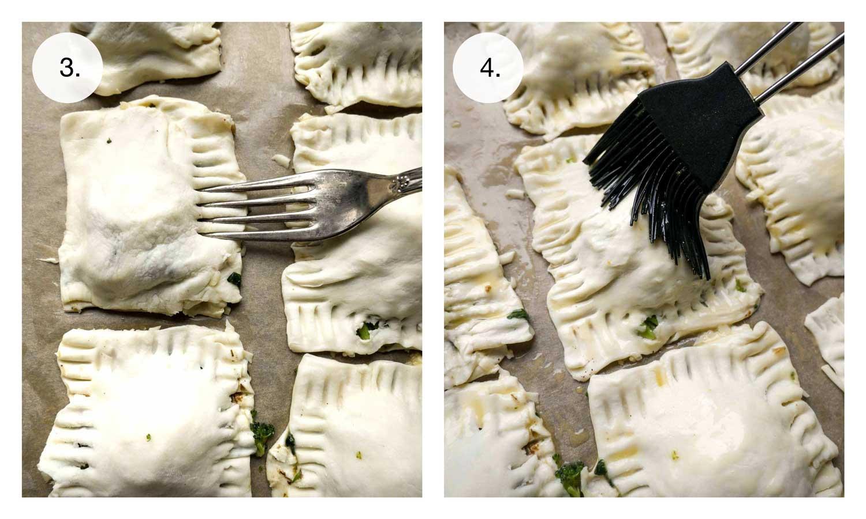 butterdejen formes med gaffel og pensles