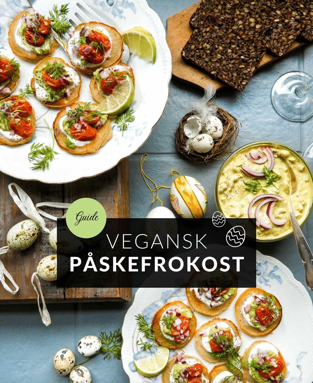 opskrifter og guide til vegansk påskefrokost med kødfri pålæg og opskrifter