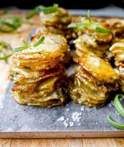 opskrift på sprøde kartoffelstakke med kartofler