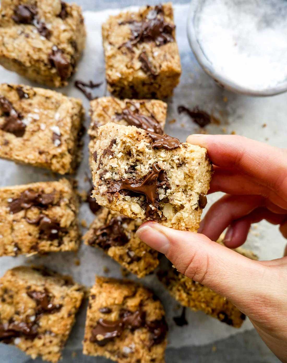 cookies firkanter til dessert, som snack eller kage