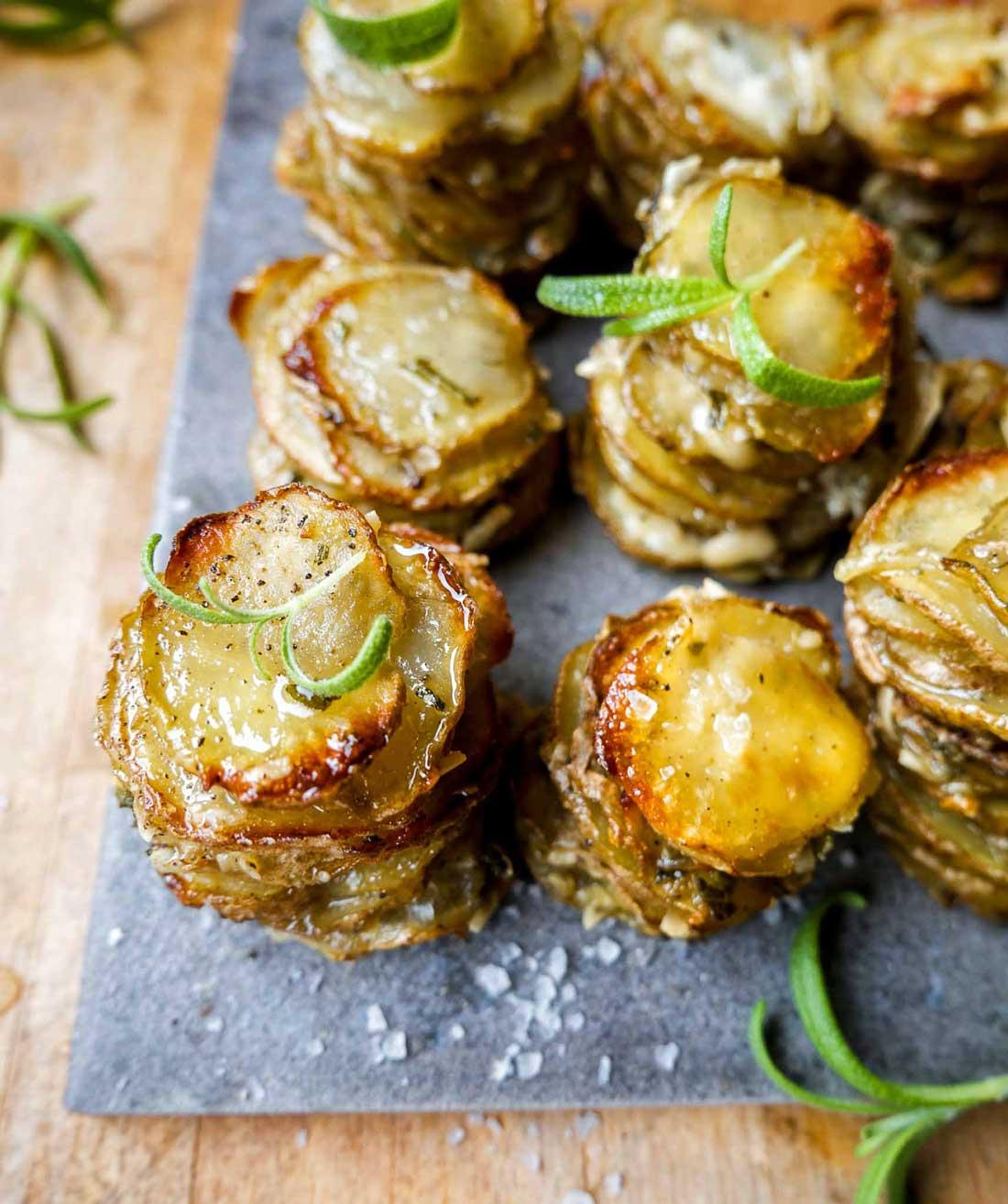 stablede kartofler til aftensmads tilbehør