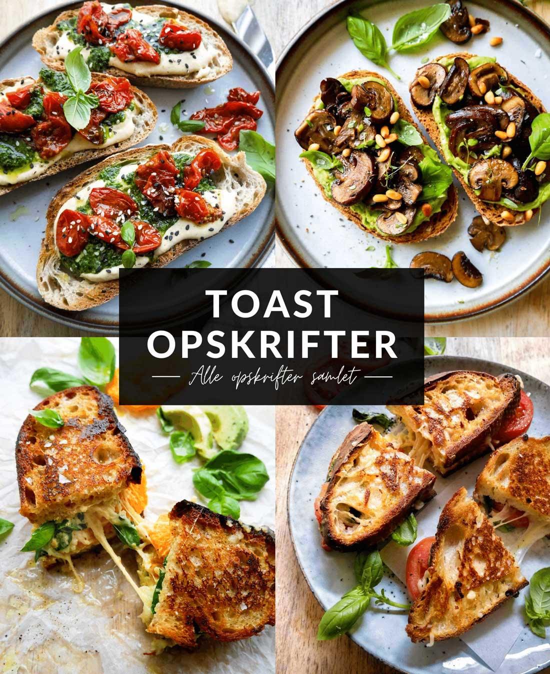 toast opskrifter til vegansk og vegetar toast