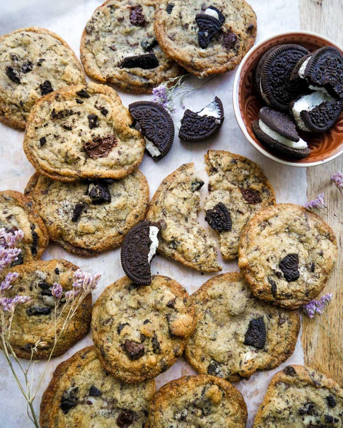 cookies med oreo kiks vegansk opskrift
