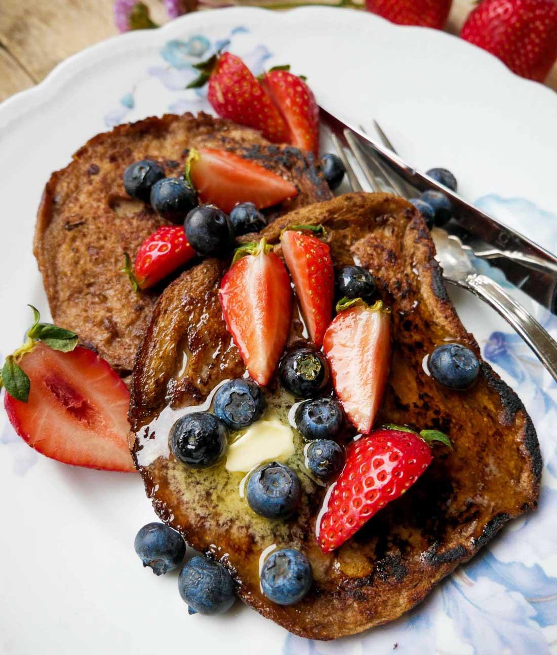 french toast vegansk opskrift