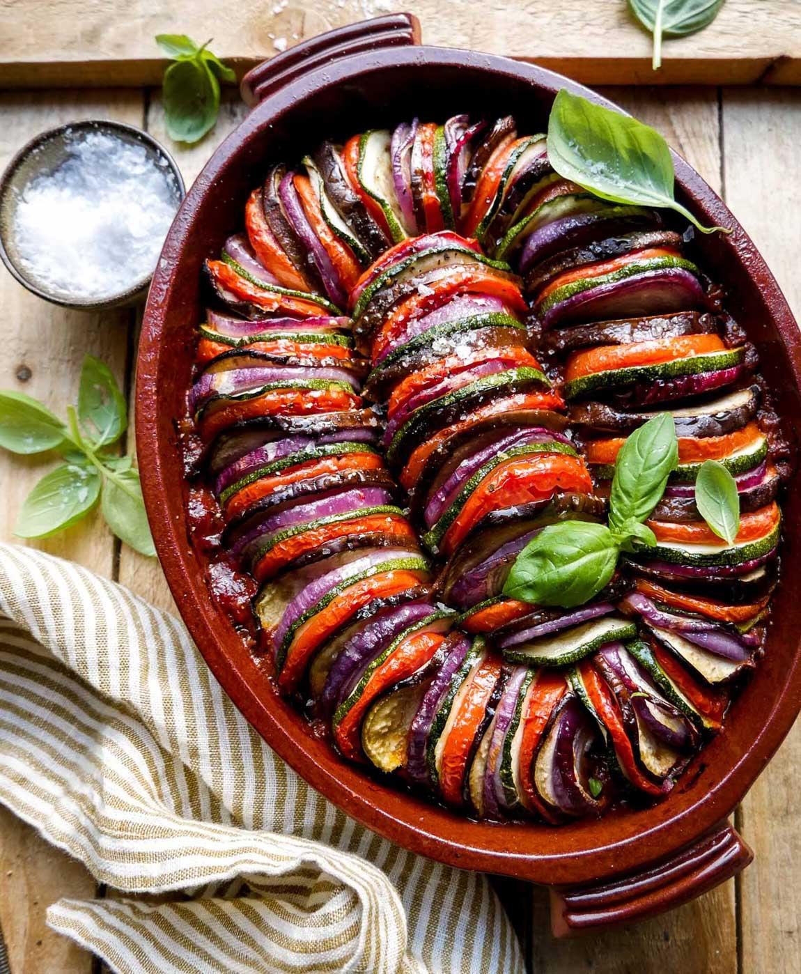 Ratatouille opskrift med tomat, og grøntsager tilbehør