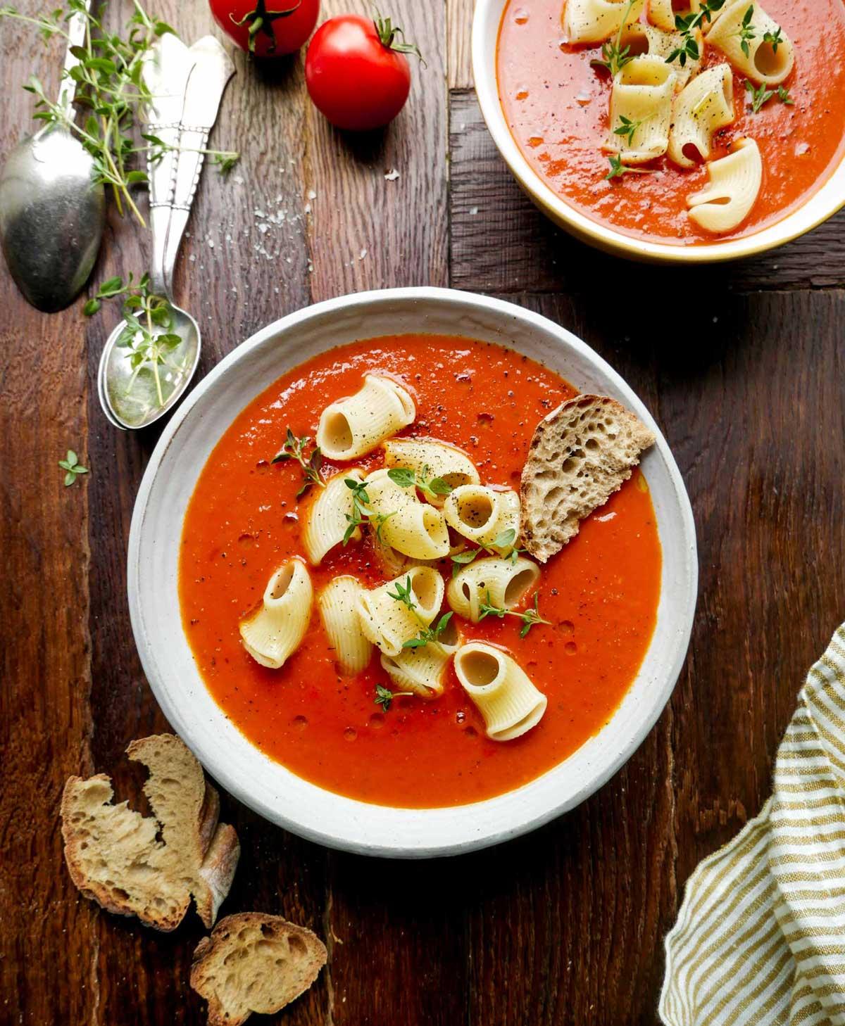 opskrift på vegansk tomatsuppe