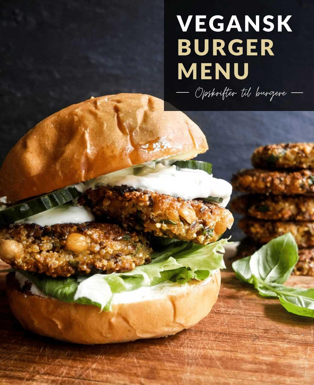 vegansk burger menu opskrifter til bøffer og burgerboller
