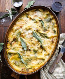 vegansk opskrift på butternut squash lasagne